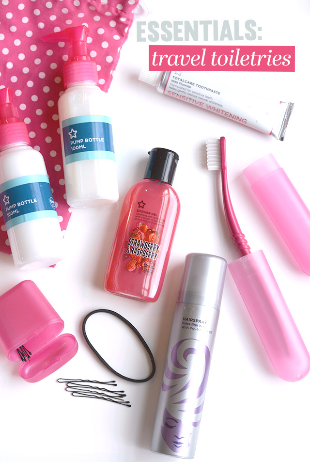 Essentials: Travel Toiletries