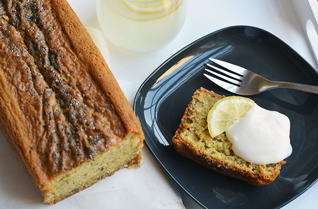 Vegan Lemon Chia Yogurt Cake