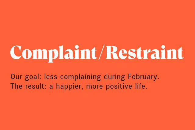Complaint Restraint